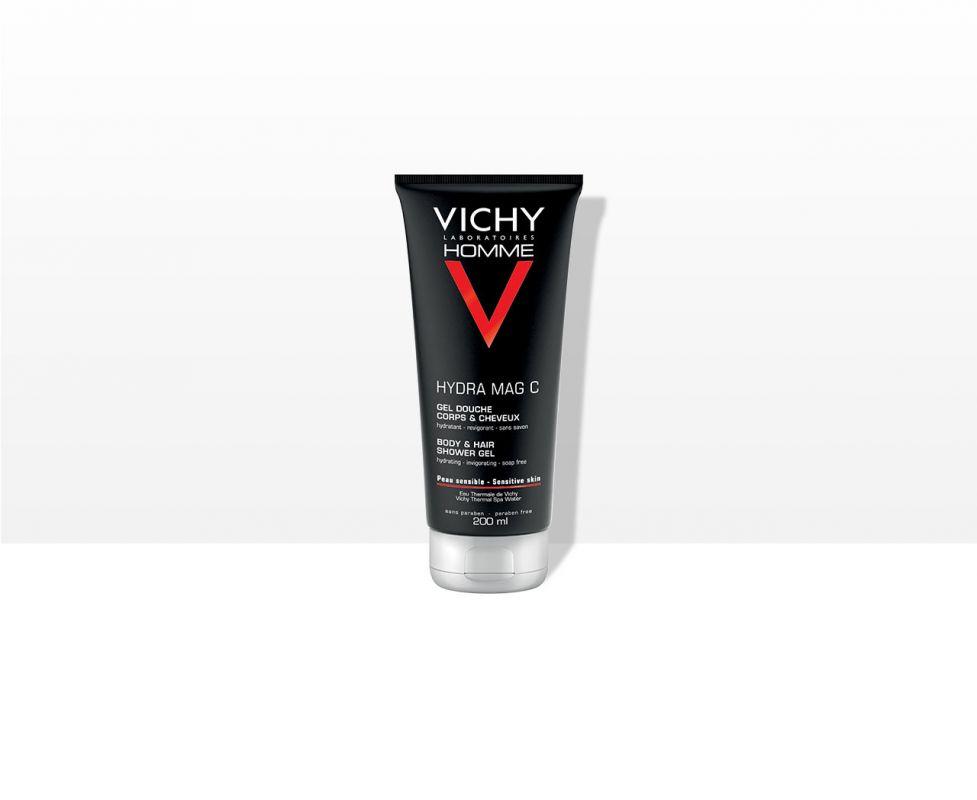 Vichy HOMME HYDRA MAG C sprchový gel na tělo a vlasy 200 ml