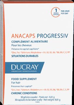 Ducray ANACAPS PROGRESSIVE tobolky balení 2+1 zdarma Pierre Fabre