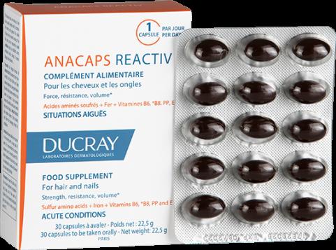 Ducray ANACAPS REACTIV tobolky balení 2+1 zdarma Pierre Fabre