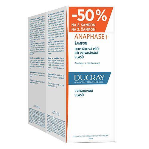 Ducray ANAPHASE+ šampon DVOUBALENÍ 2x200ml sleva 50% na 2.šampon Pierre Fabre