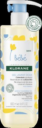 Klorane BÉBÉ Jemný mycí gel na tělo a vlasy 500ml Pierre Fabre