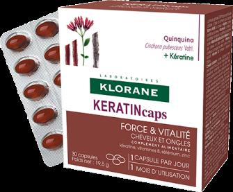 Klorane CHININ KERATINcaps 3x30 tobolek Pierre Fabre