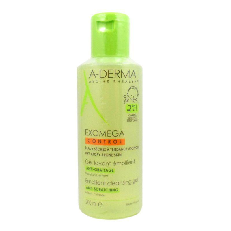 A-DERMA EXOMEGA Zvláčňující mycí gel 2v1 na tělo a vlasy 200 ml Pierre Fabre