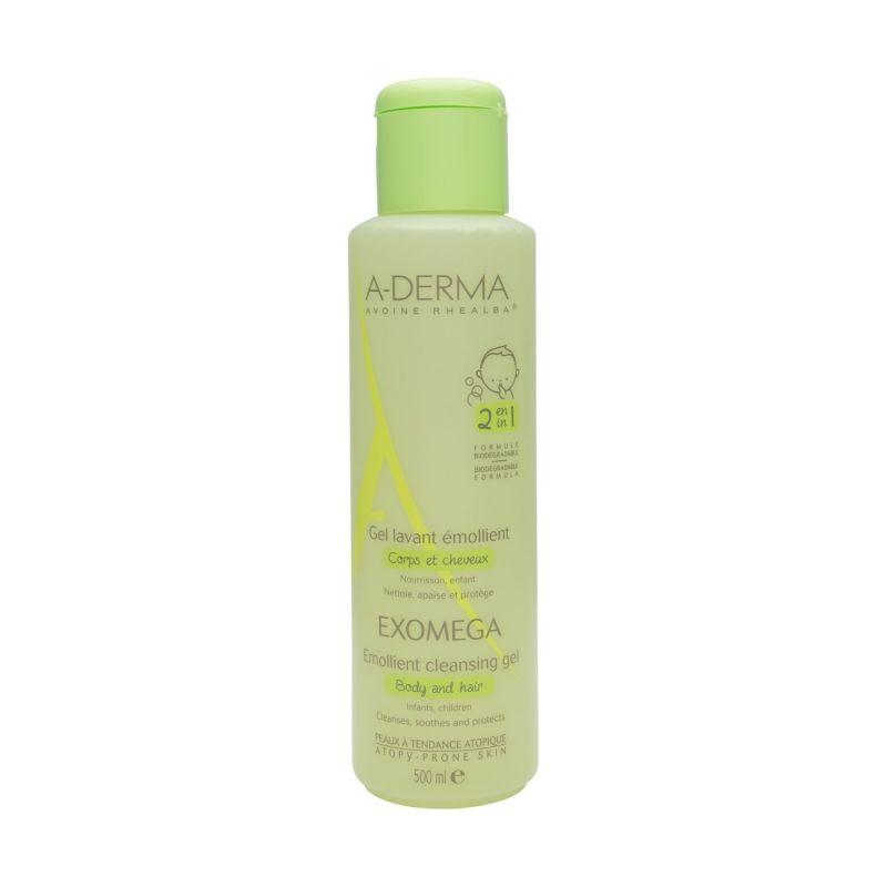 A-DERMA EXOMEGA Zvláčňující mycí gel na tělo a vlasy 2v1 500 ml Pierre Fabre