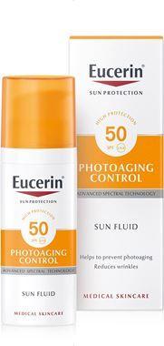 Eucerin SUN Emulze na obličej proti vráskám Photoaging Control SPF 50, 50 ml