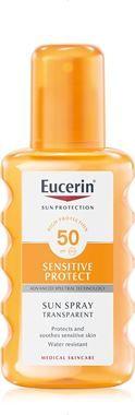 Eucerin SUN Transparentní Sprej na tělo Sensitive Protect SPF 50, 200ml