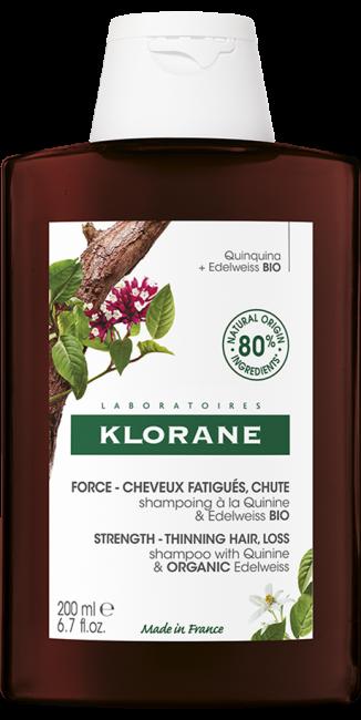 Klorane CHININ Posilující šampon s chininem a BIO protěží alpskou 400ml Pierre Fabre