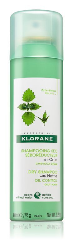 Klorane KOPŘIVA Suchý šampon s výtažkem z kopřivy 150ml Pierre Fabre
